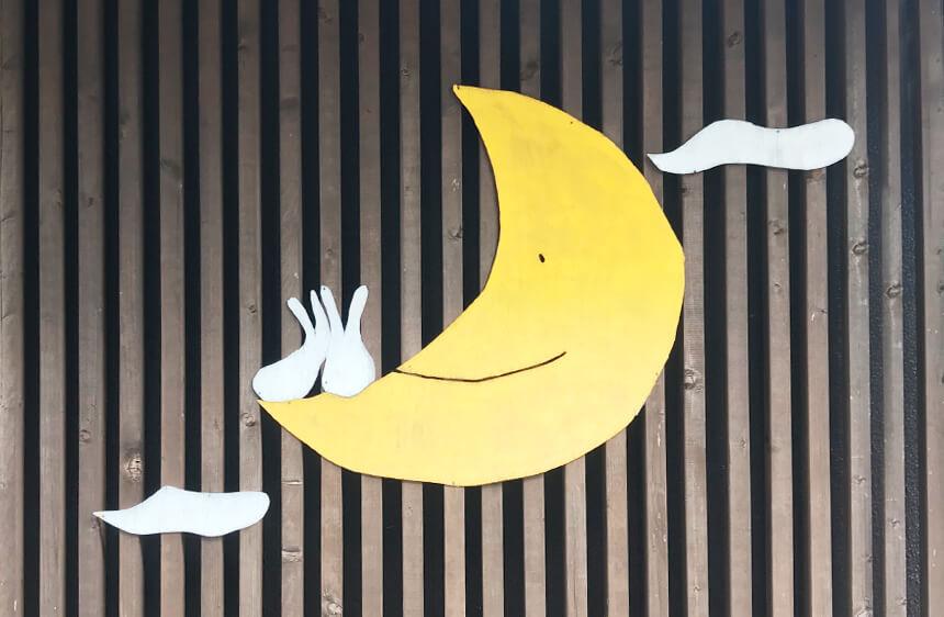写真:月うさぎのうさぎのオブジェ