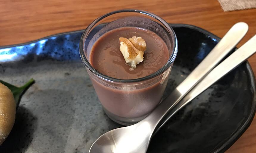 写真:あきさんの台所の生チョコあんこプリン