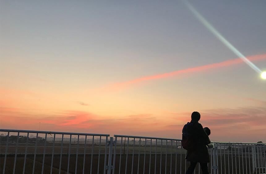 バルーンフェスタが始まる前の朝焼け