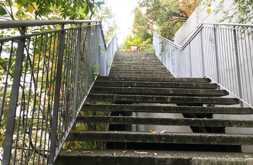 アクロス山の階段