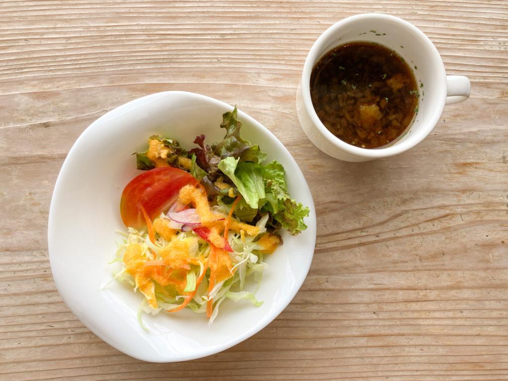 写真:ハーブガーデン プティール倶楽部伊都国のサラダ・スープ