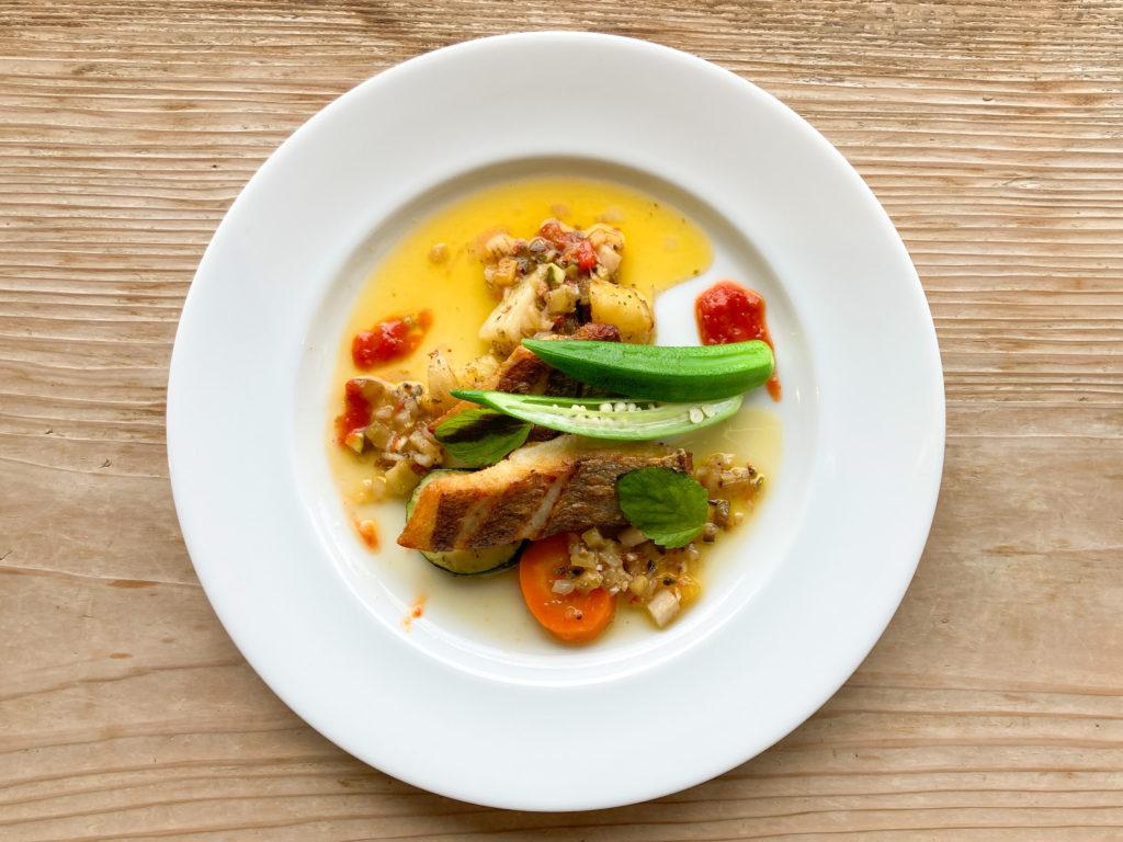 写真:ハーブガーデン プティール倶楽部伊都国のお魚料理